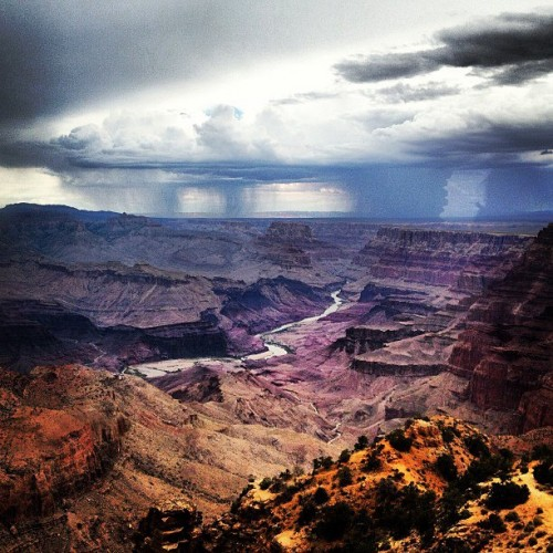 Grand Canyon_ dark and stormy